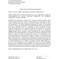Evaluación de Canna sp. y Heliconia sp. para el tratamiento de aguas servidas mediante un humedal de agua artificial a escala piloto