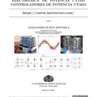 ELECTRÓNICA DE POTENCIA CT1531<br /> CONTROLADORES DE POTENCIA CT4351