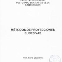 MATERIAL DE INSTRUCCIÓN SOBRE MÉTODOS DE PROYECCIONES SUCESIVAS