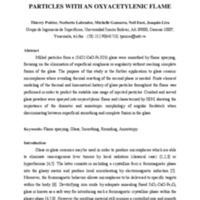 SMOOTHING IRON OXIDE-BASED GLASS PARTICLES  WITH AN OXYACETYLENIC FLAME