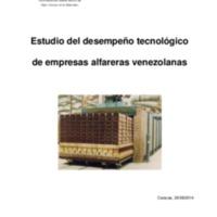 Estudio del desempeño tecnológico de empresas alfareras venezolanas 2014
